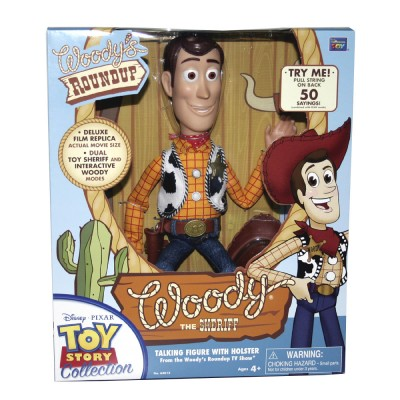 Toy Story Collection Woody's Roundup Woody the Sheriff talking Doll ...